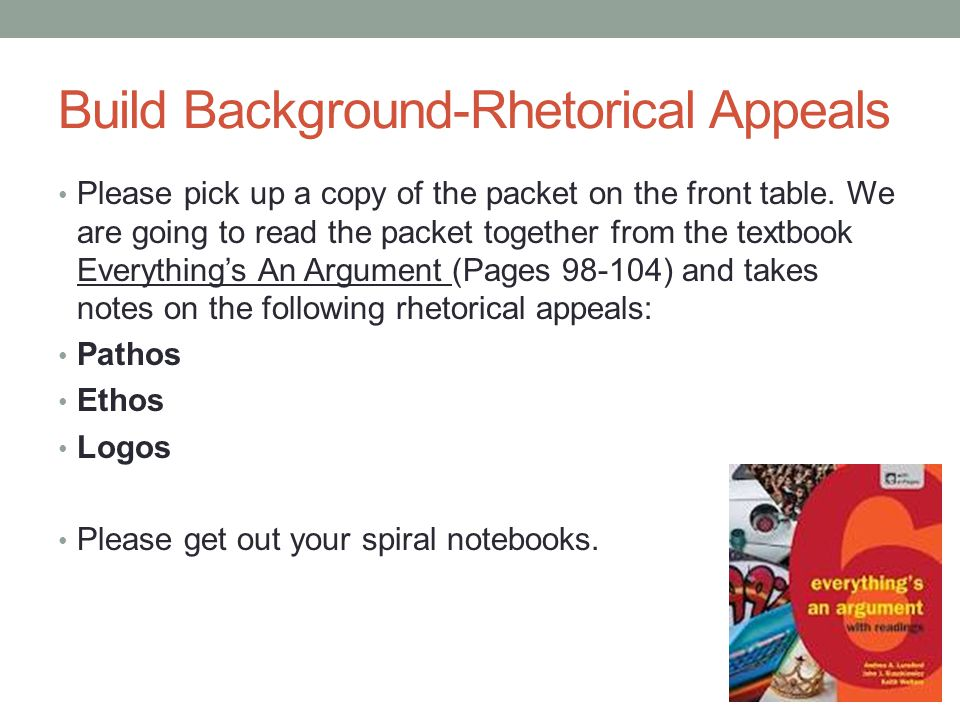 Build Background-Rhetorical Appeals
