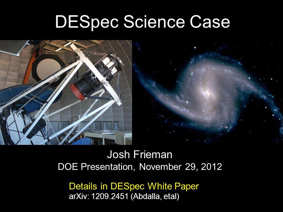 DOE Presentation, November 29, 2012