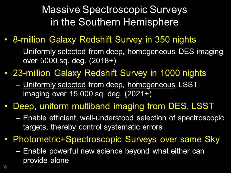 Massive Spectroscopic Surveys in the Southern Hemisphere