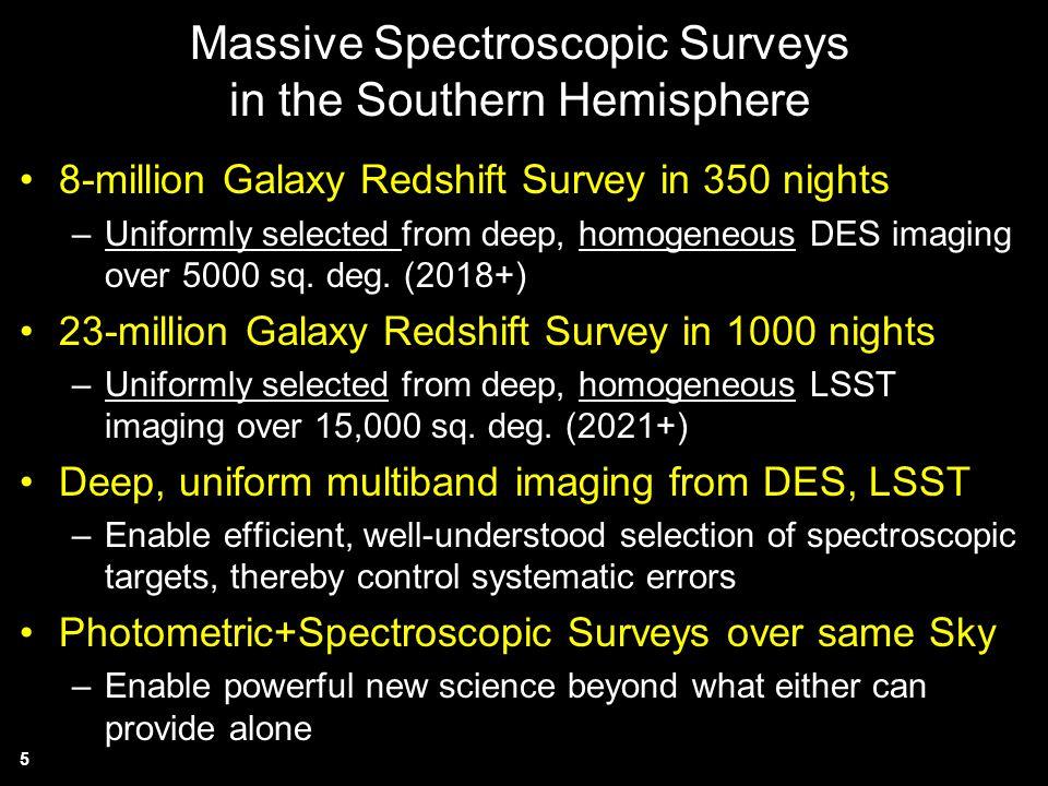 Massive Spectroscopic Surveys in the Southern Hemisphere