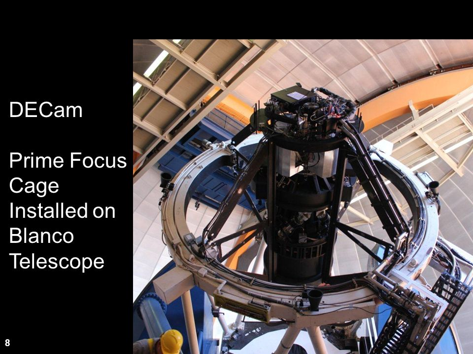 DECam Prime Focus Cage Installed on Blanco Telescope