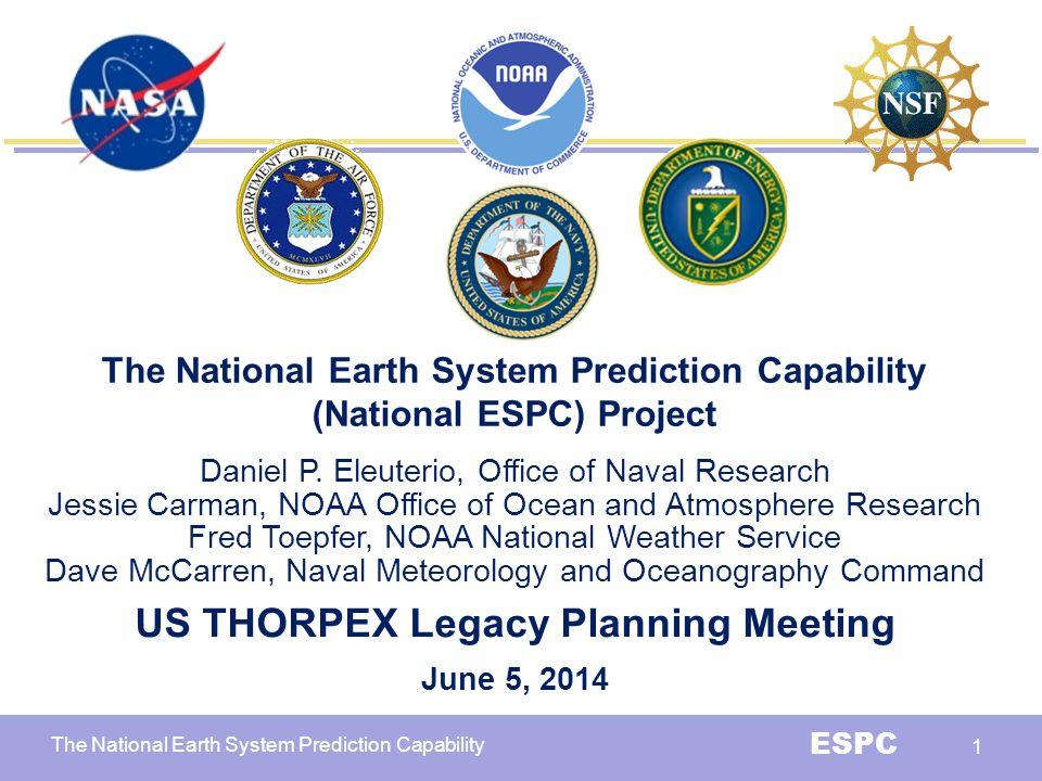 US THORPEX Legacy Planning Meeting