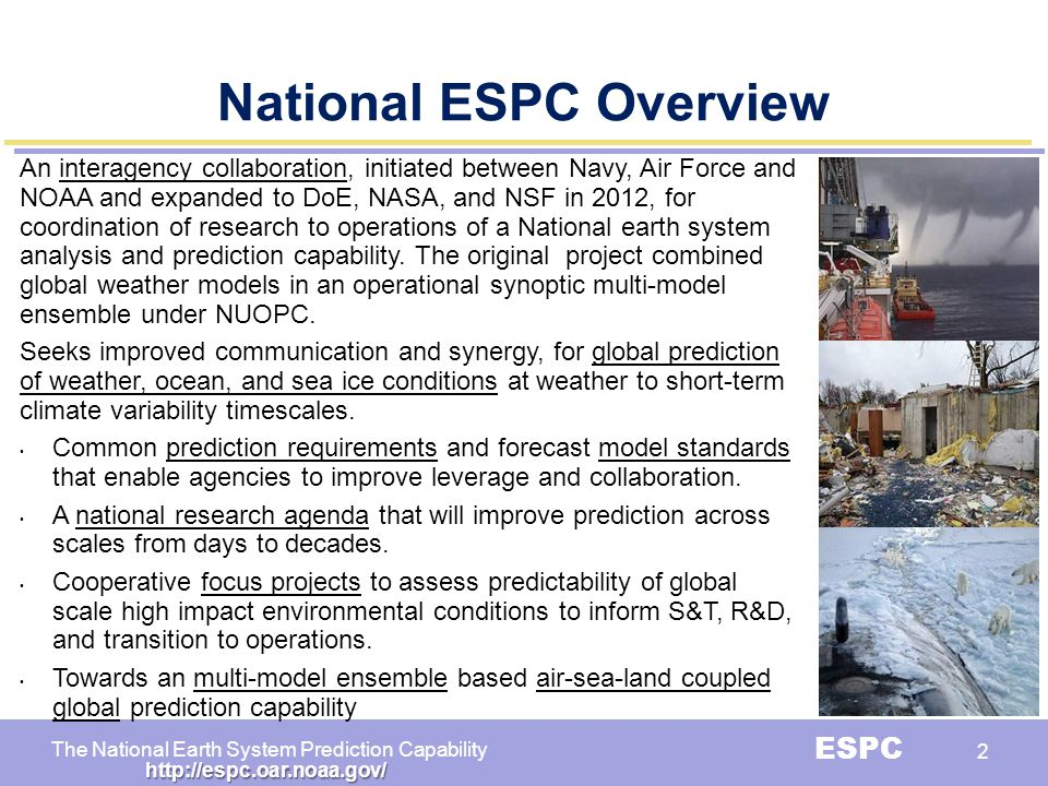 National ESPC Overview