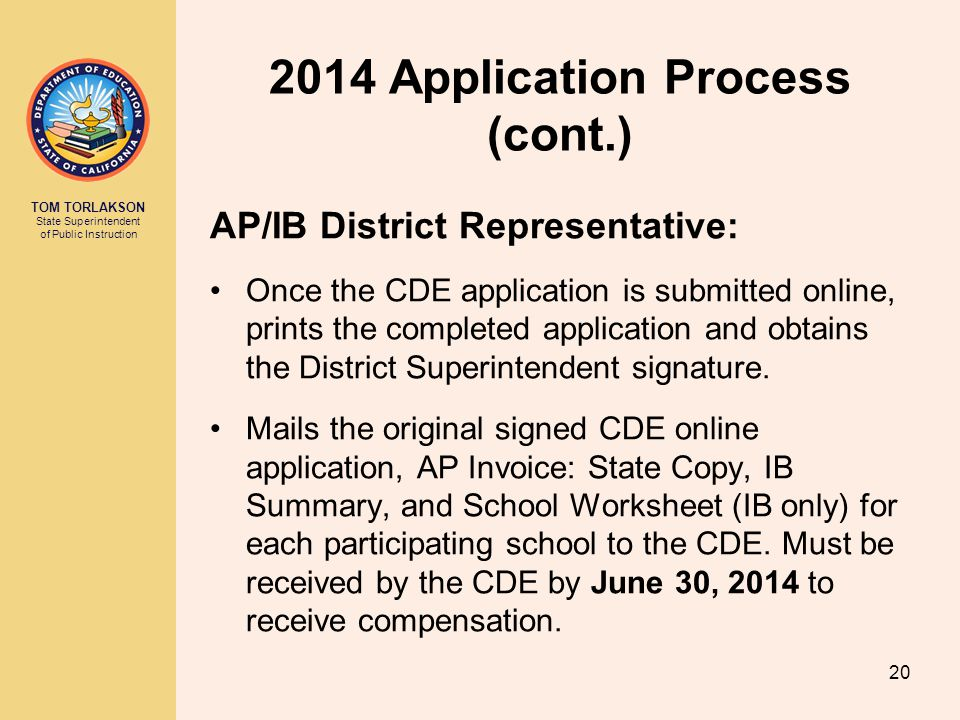 2014 Application Process (cont.)