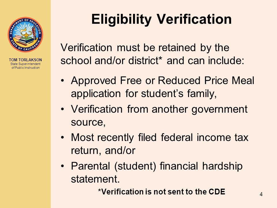 Eligibility Verification