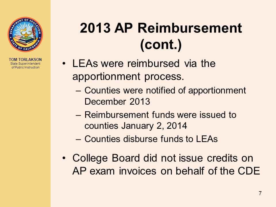 2013 AP Reimbursement (cont.)