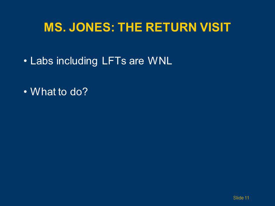 Ms. Jones: The Return Visit