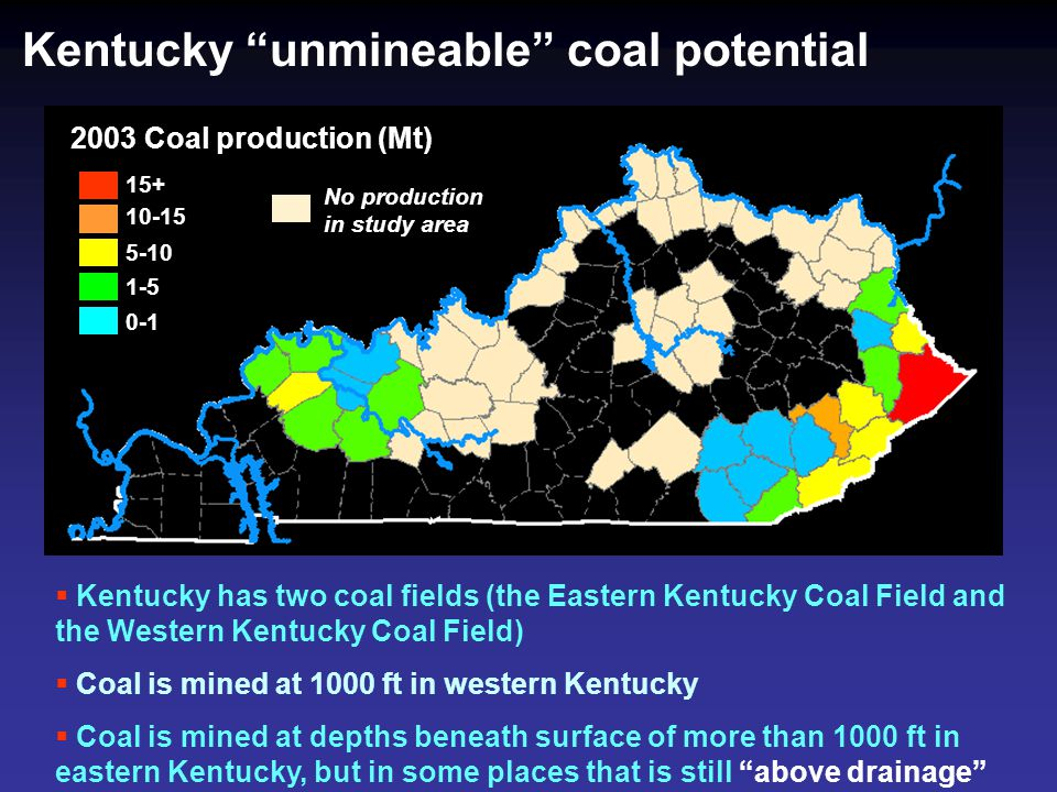 Kentucky unmineable coal potential