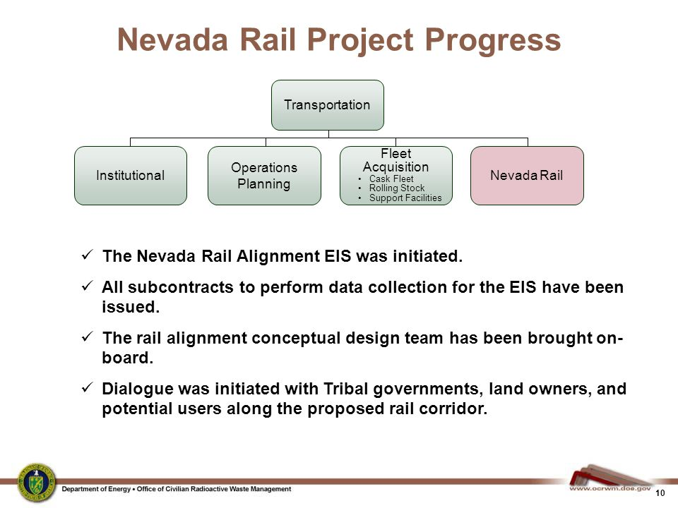 Nevada Rail Project Progress