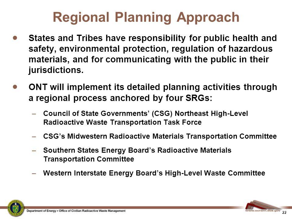 Regional Planning Approach