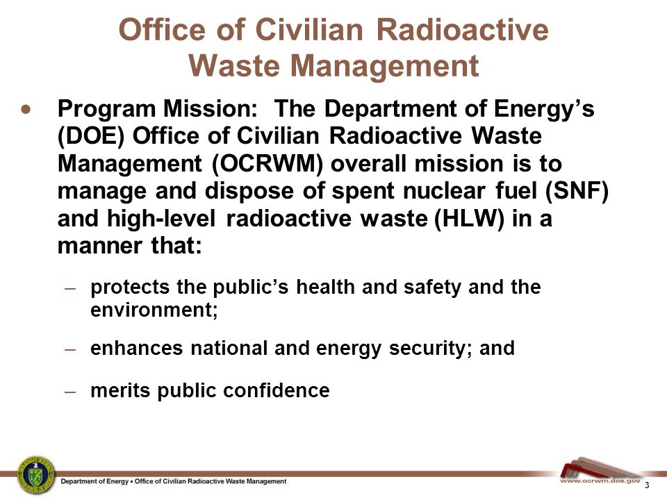 Office of Civilian Radioactive Waste Management