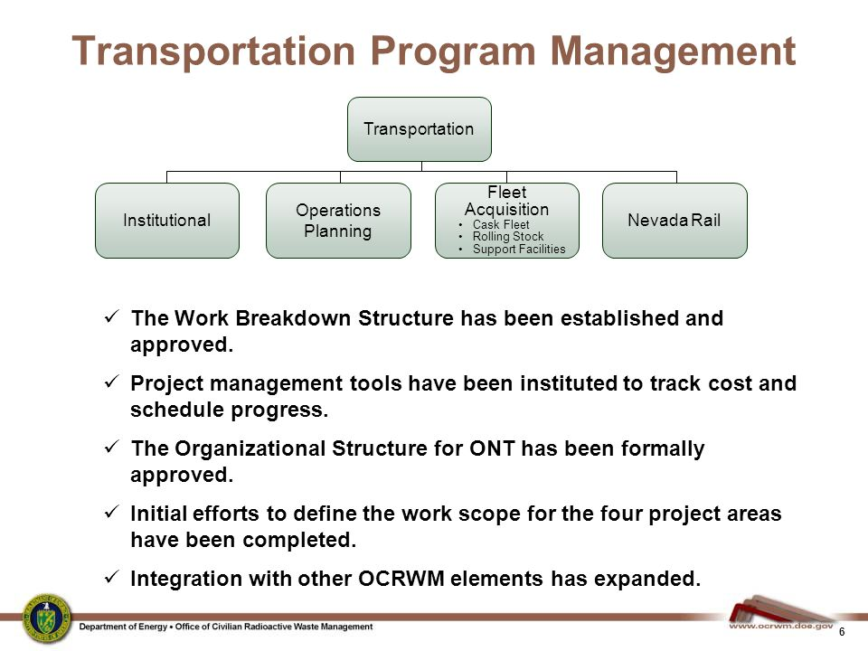Transportation Program Management