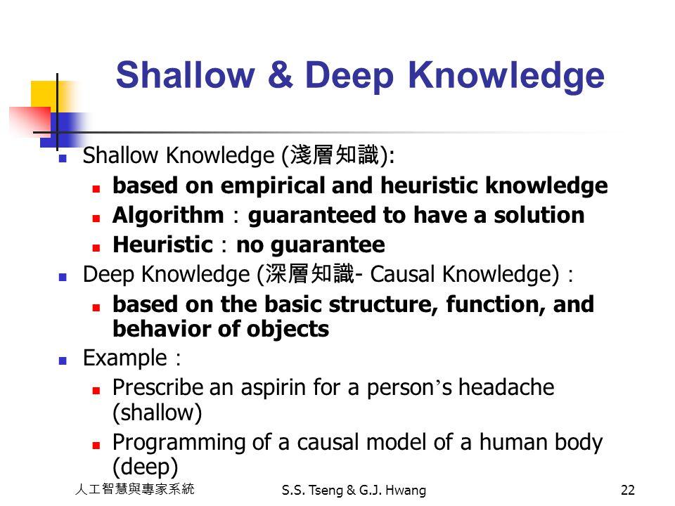 Shallow & Deep Knowledge