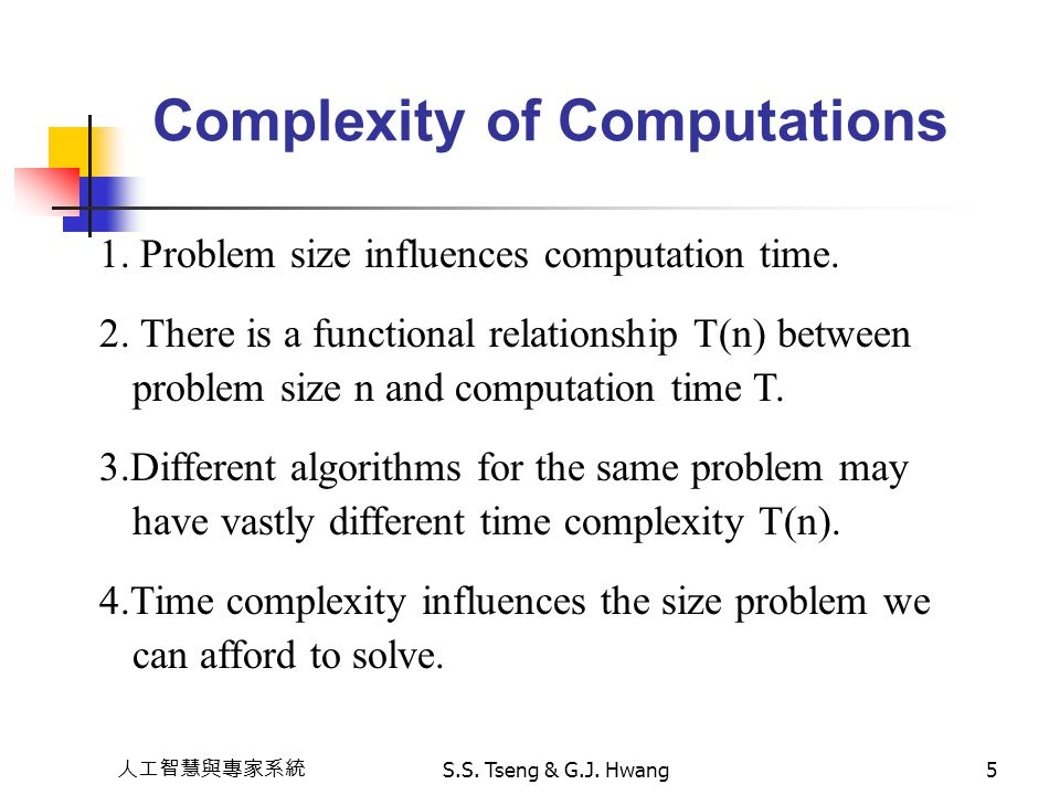 Complexity of Computations