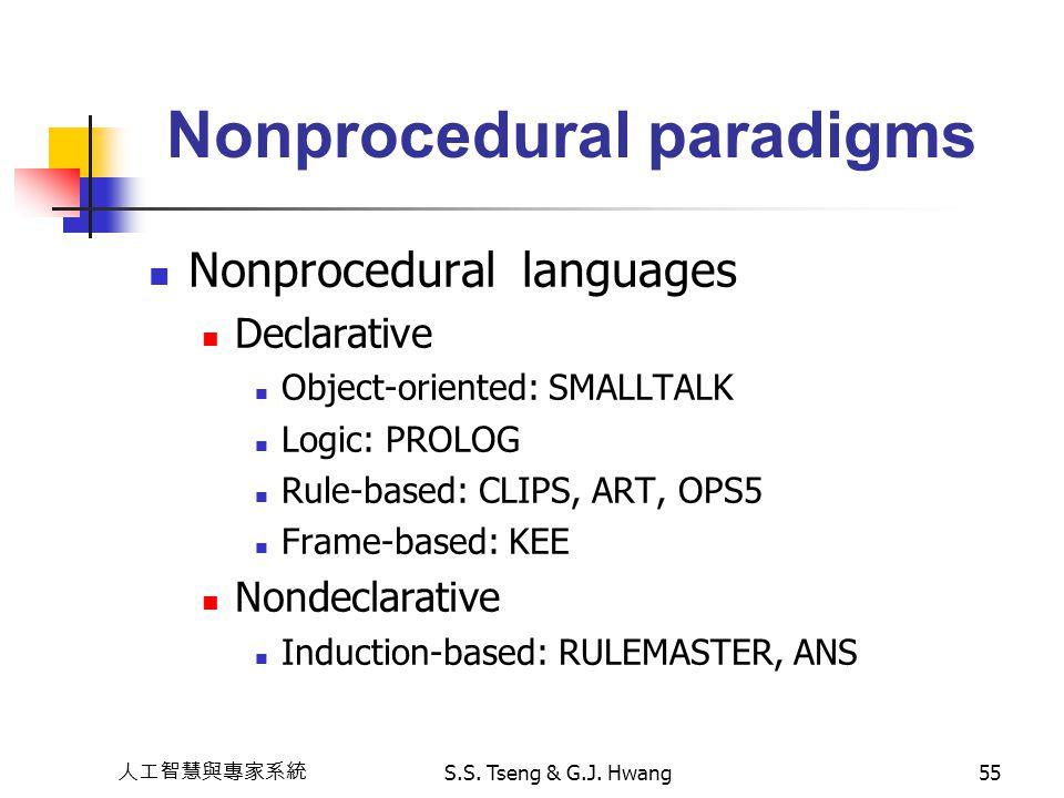 Nonprocedural paradigms