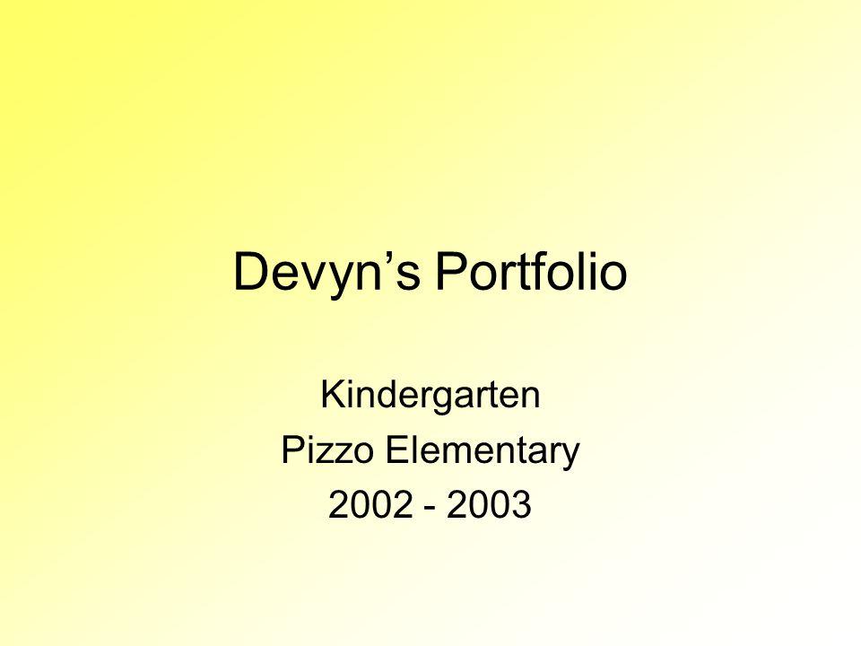 Kindergarten Pizzo Elementary 2002 - 2003