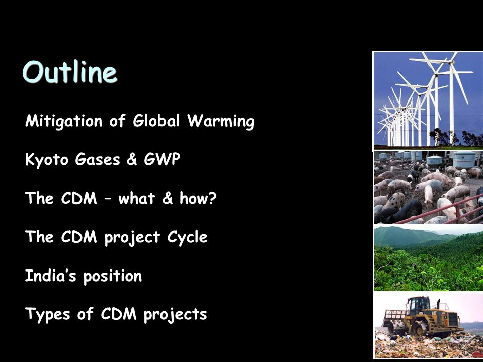 Outline Mitigation of Global Warming Kyoto Gases & GWP