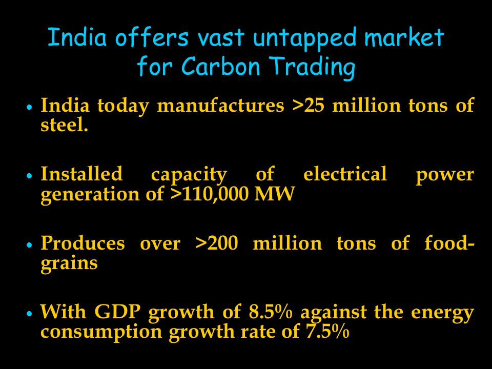 India offers vast untapped market for Carbon Trading