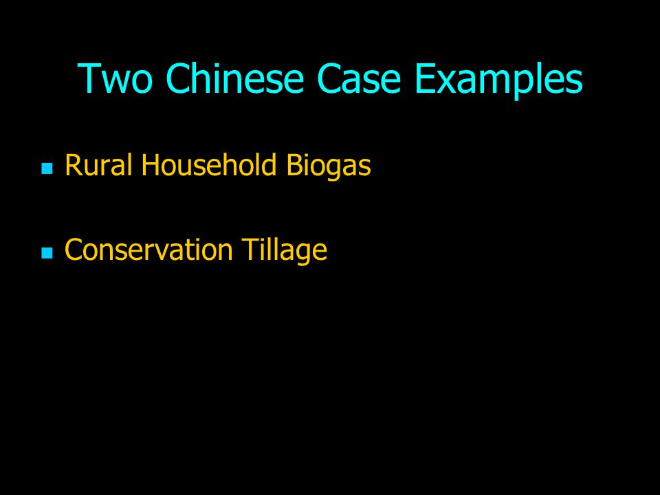 Two Chinese Case Examples