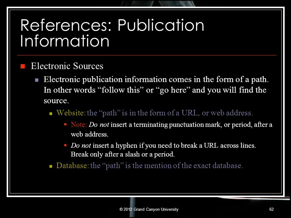 References: Publication Information