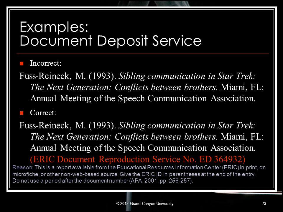 Examples: Document Deposit Service