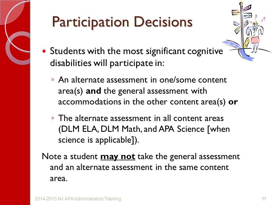 Participation Decisions