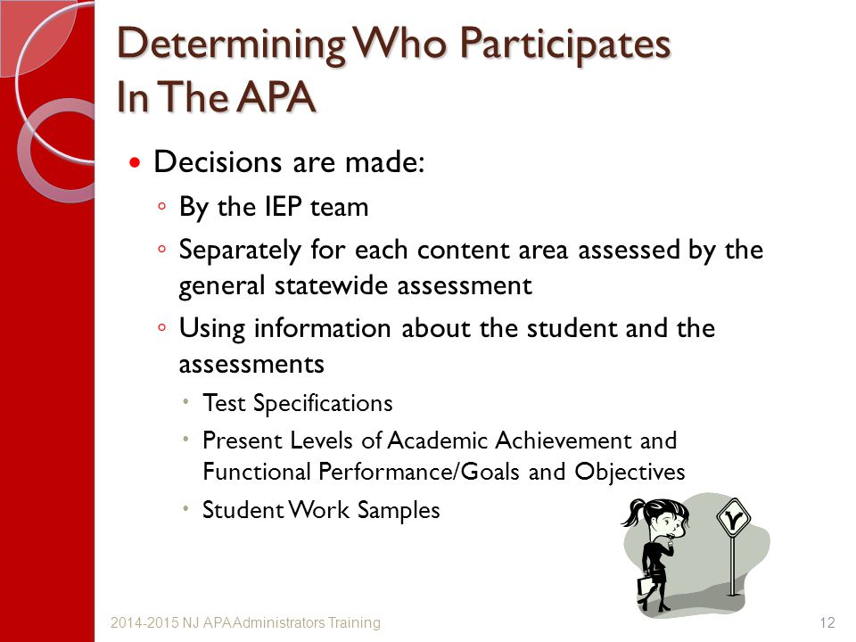 Determining Who Participates In The APA