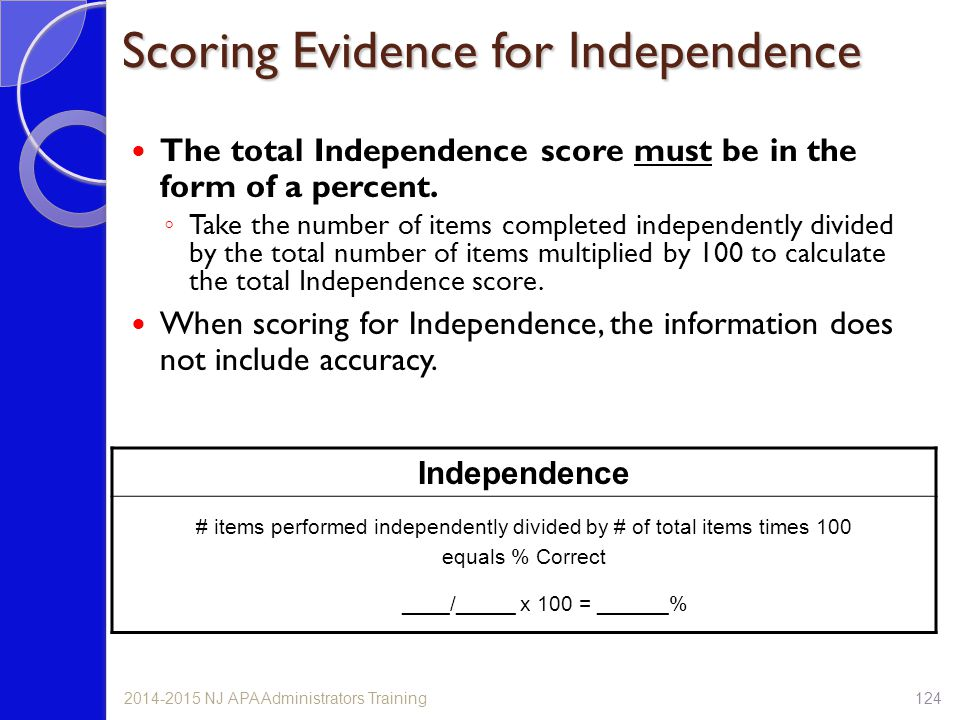 Scoring Evidence for Independence