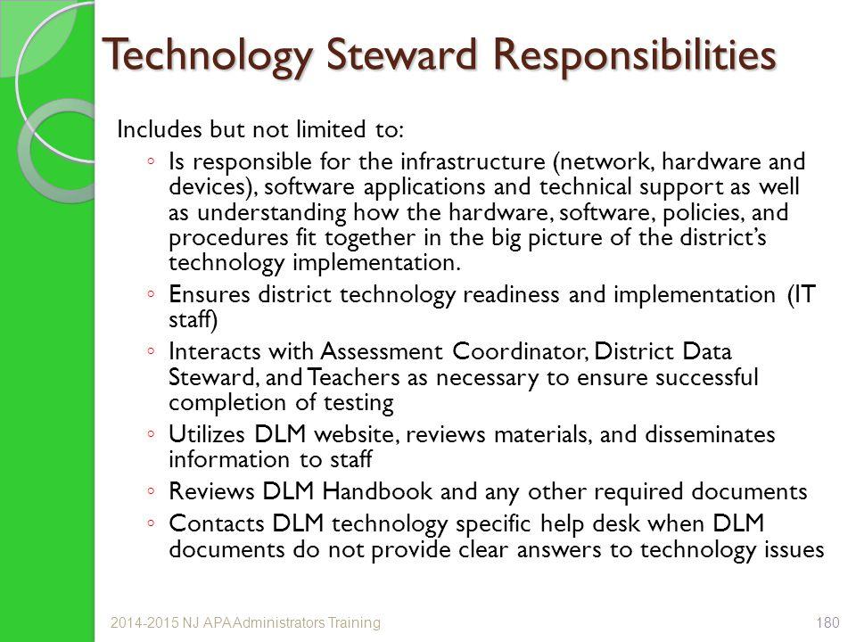 Technology Steward Responsibilities