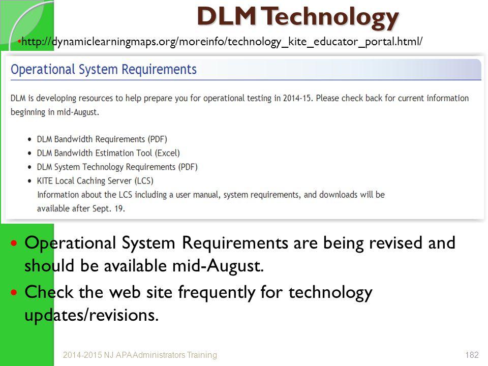 DLM Technology http://dynamiclearningmaps.org/moreinfo/technology_kite_educator_portal.html/