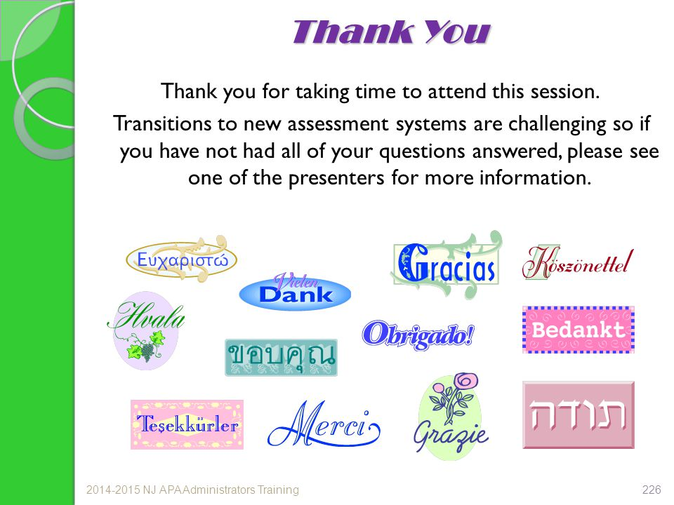 Thank you for taking time to attend this session.