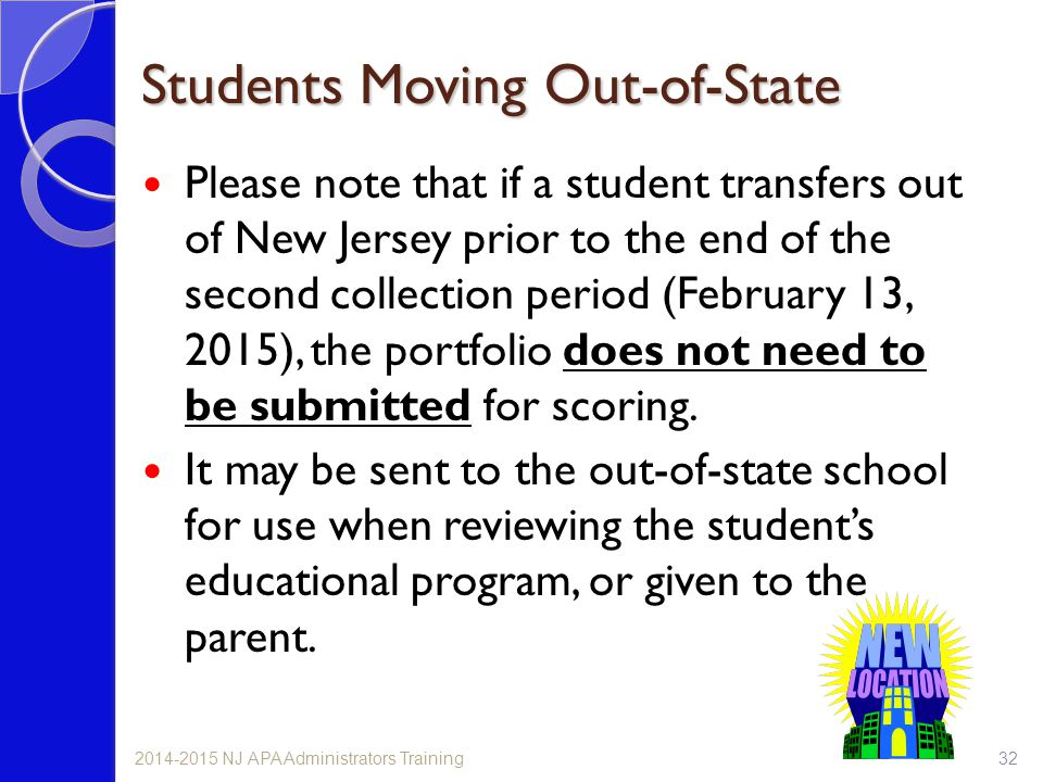 Students Moving Out-of-State