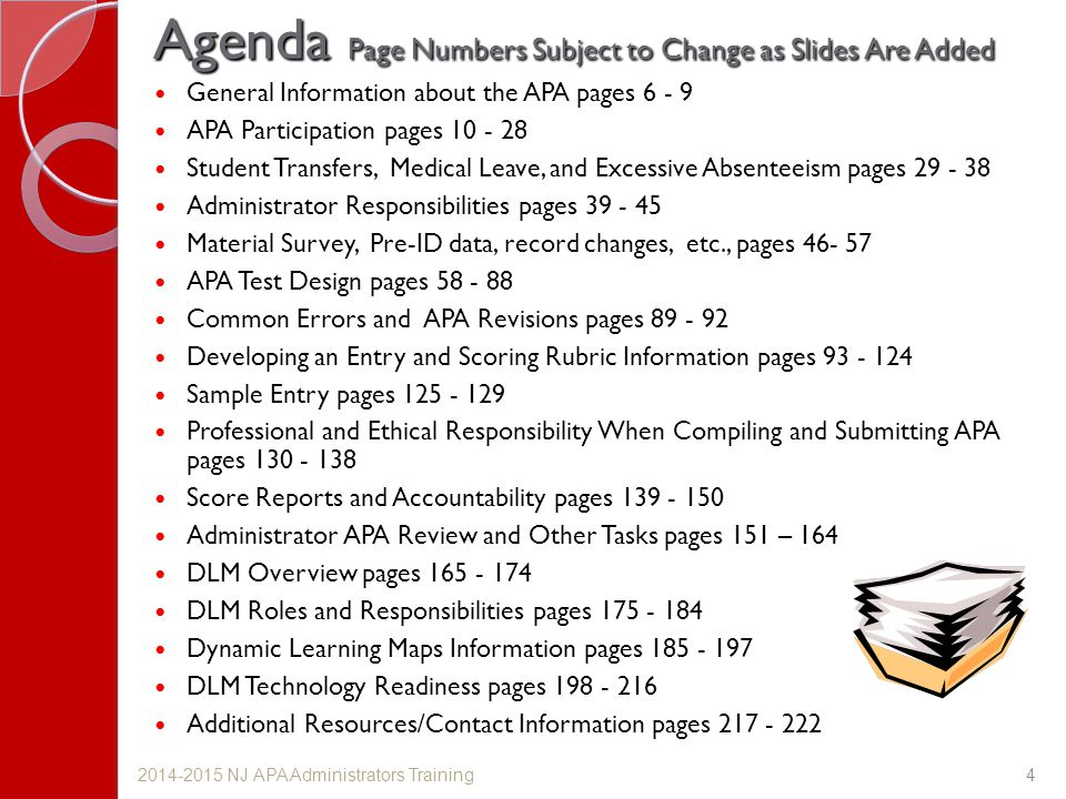 Agenda Page Numbers Subject to Change as Slides Are Added