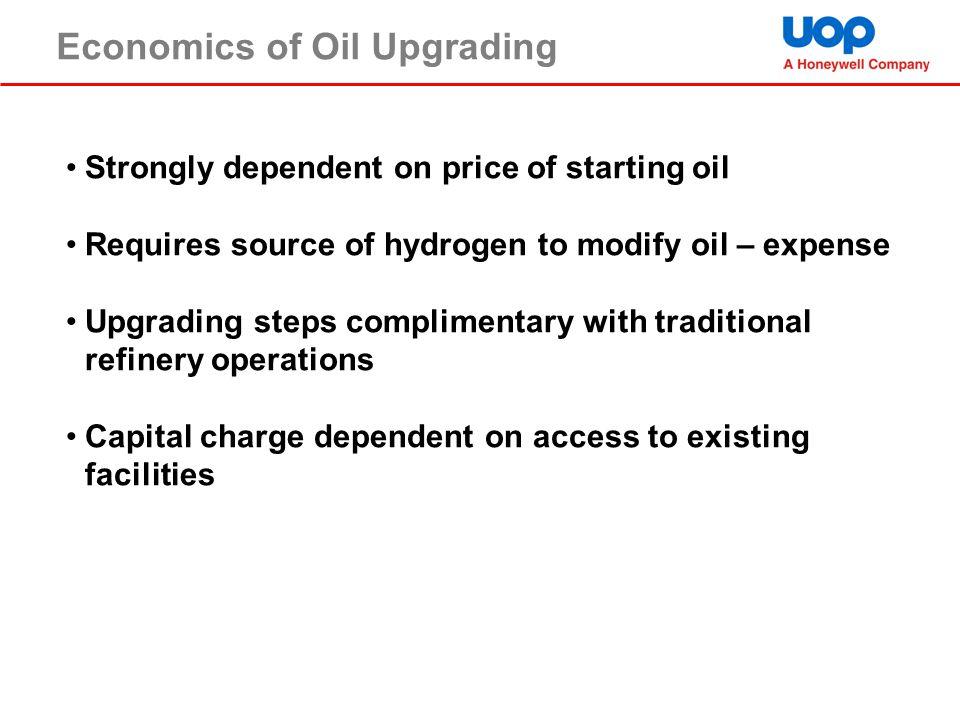 Economics of Oil Upgrading