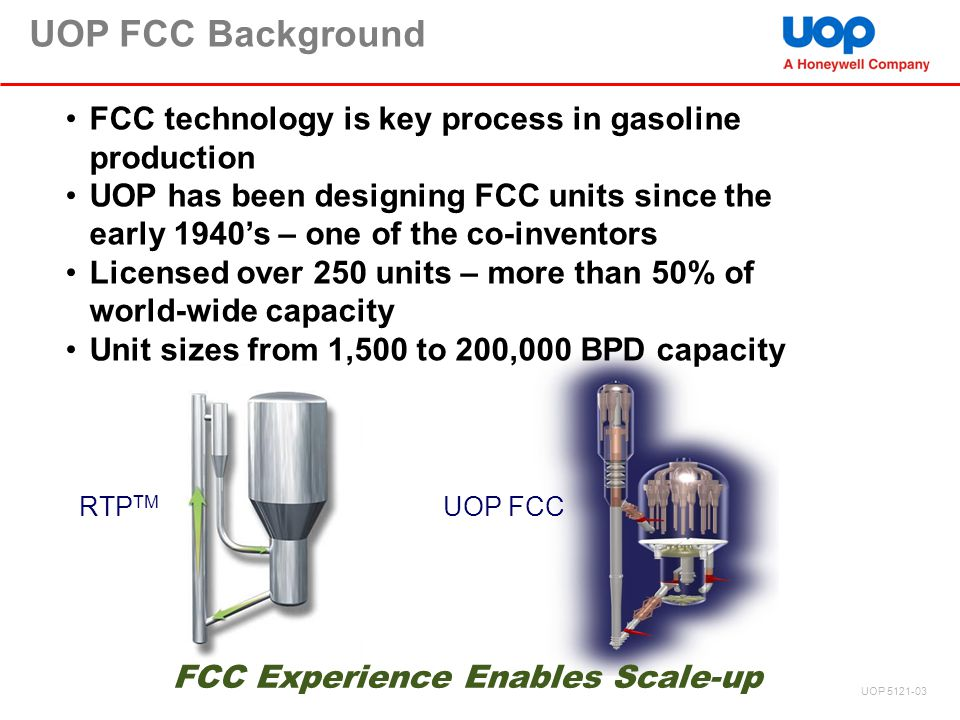 FCC Experience Enables Scale-up