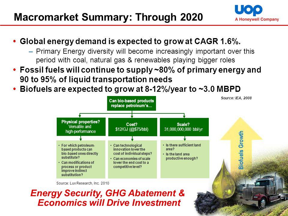 Macromarket Summary: Through 2020