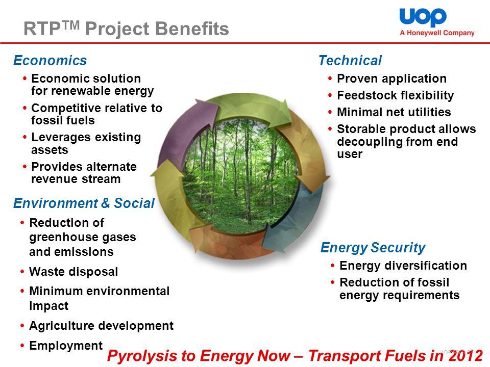 RTPTM Project Benefits