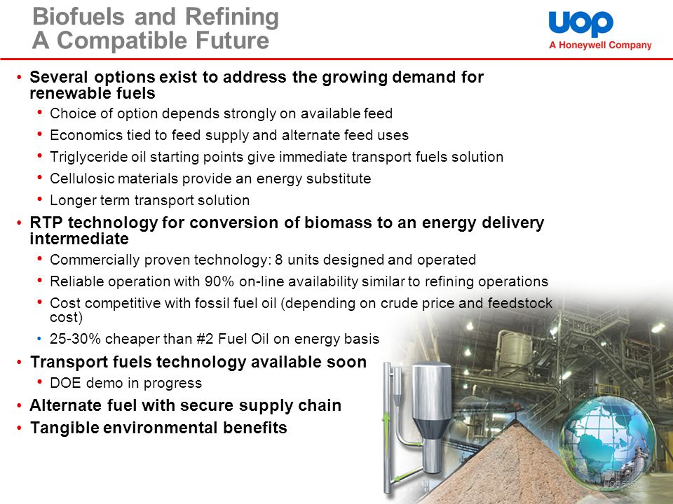 Biofuels and Refining A Compatible Future