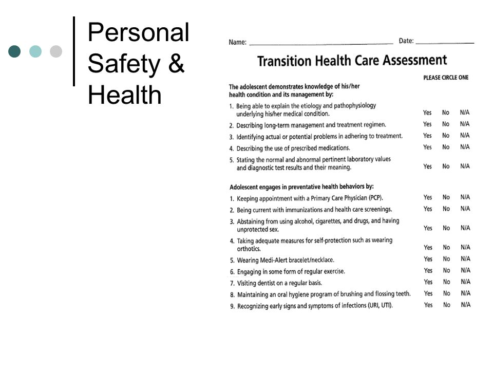 Personal Safety & Health