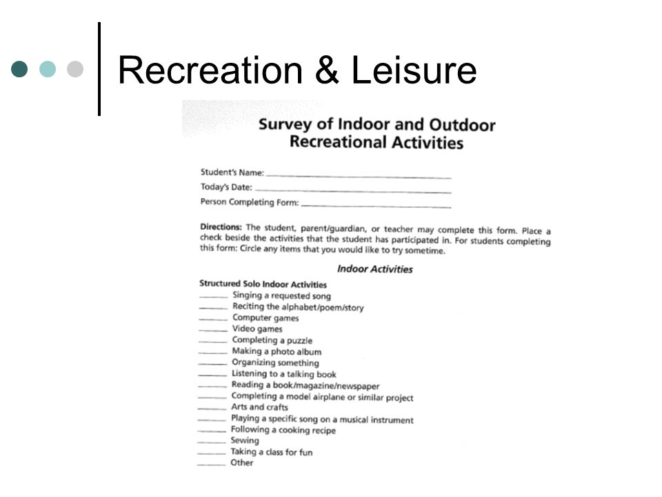 Recreation & Leisure