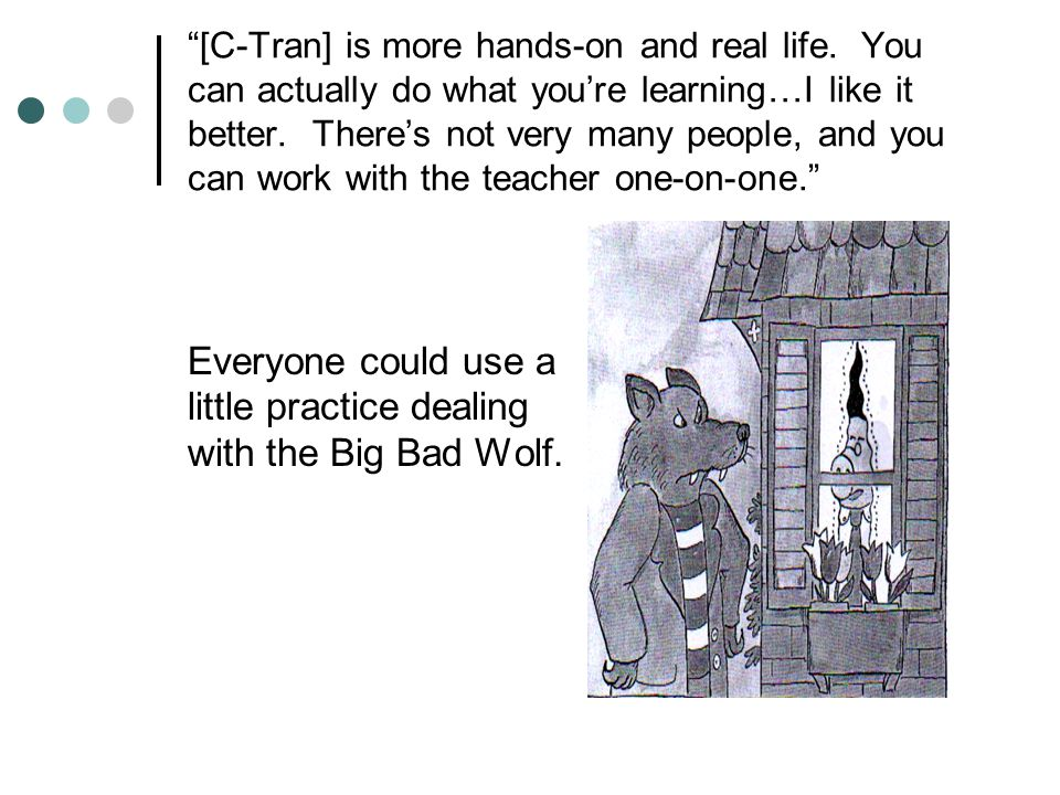 Everyone could use a little practice dealing with the Big Bad Wolf.