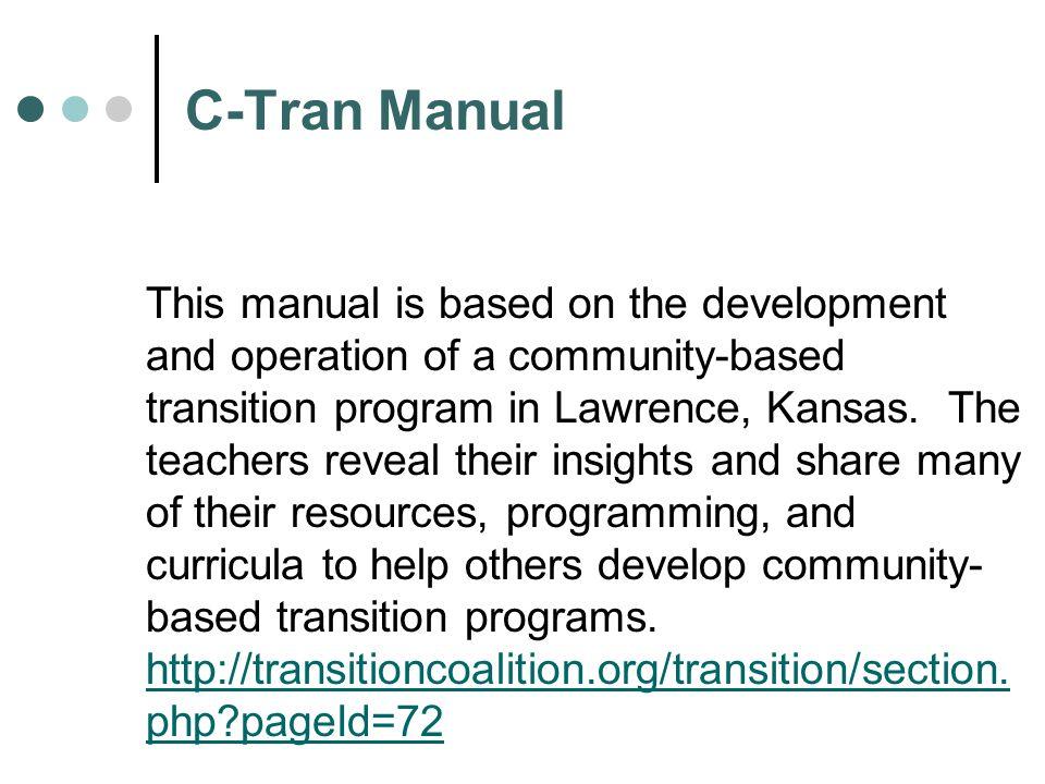 C-Tran Manual