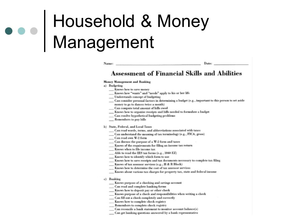 Household & Money Management