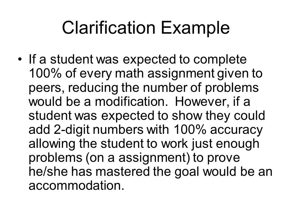 Clarification Example
