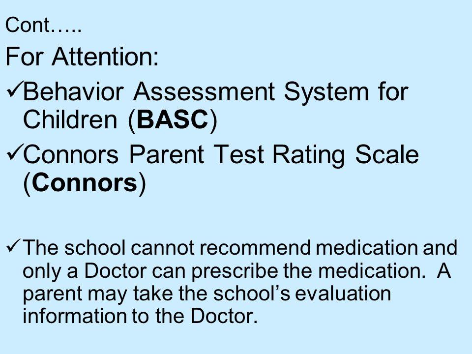Behavior Assessment System for Children (BASC)