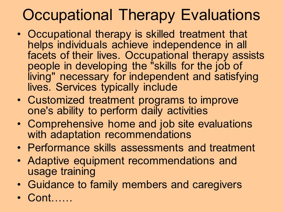 Occupational Therapy Evaluations