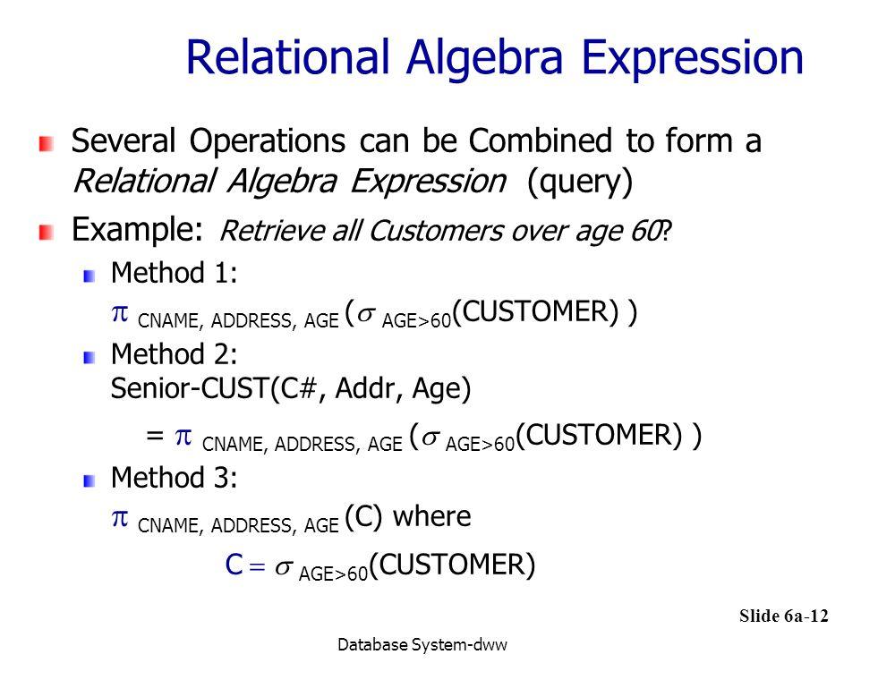 Relational Algebra Expression
