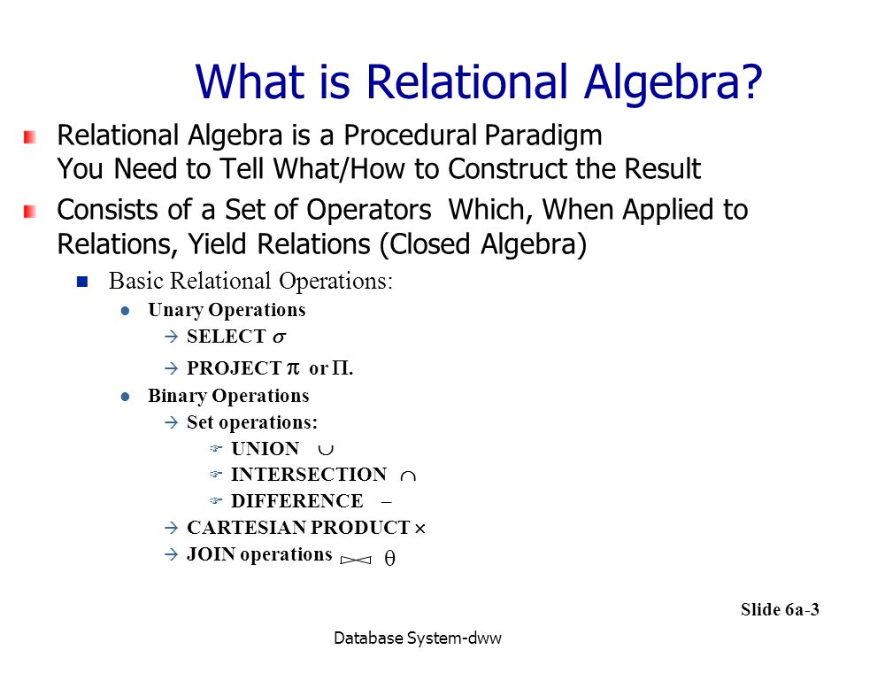 What is Relational Algebra
