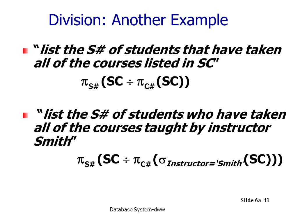 Division: Another Example