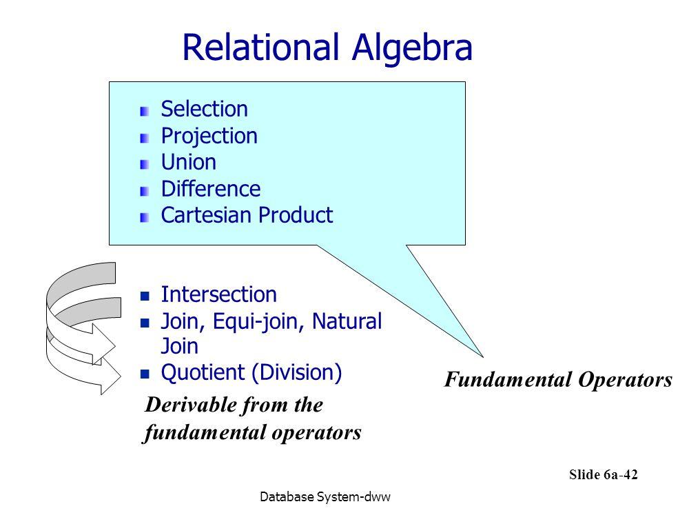 Relational Algebra Fundamental Operators